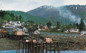 On The Inside  Passage With The Ferry Dock Seen In The Foreground Wrangell Al...
