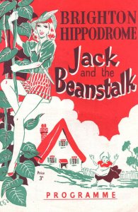 Jack & The Beanstalk Brighton Hippodrome 1950s Pantomime Programme