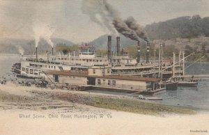 HUNTINGTON , West Virginia, 1900-10s ; Wharf Scene , Ohio River