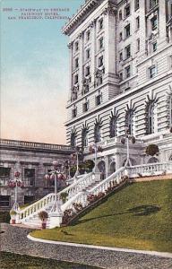 California San Francisco Stairway To Terrace Fairmont Hotel