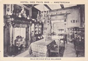 Amsterdam , Netherlands , Hotel Des Pys Bas , Salle enVieux Style Hollandais ...