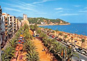 Costa Brava Spain Postcard, Lloret De Mar, Paseo Mosen Jacinto Verdaguer R77
