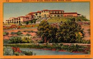 Arizona Phoenix Biltmore Estates Residence Of P K Wrigley Curteich