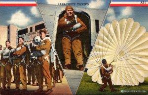 Military Parachute Troops Multi View Curteich