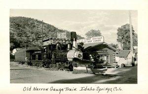 CO - Idaho Springs. Old Narrow Gauge Train    *RPPC