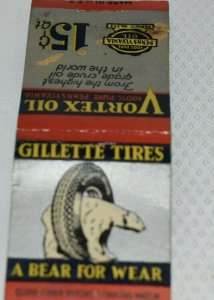 Gillette Tires A Bear for Wear Advertising 20 Strike Silver and Red Cover