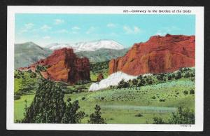 Gateway to the Garden of the Gods Pikes Peak Colorado Unused c1920s