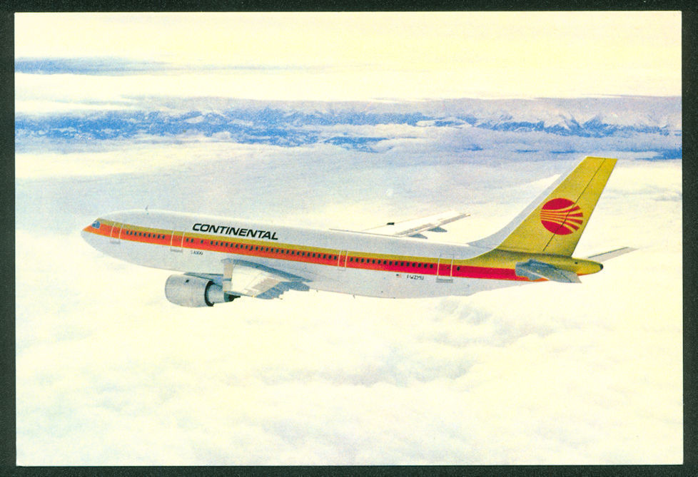 Continental Airlines AIRBUS A300 Aircraft Flying Airplane