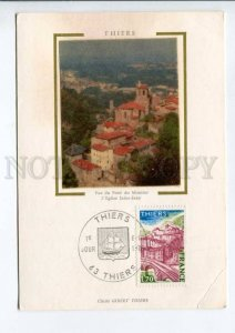 422340 FRANCE 1976 year Thiers First Day maximum card