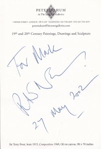 Peter Nahum The Antiques Roadshow at London Art Gallery 2002 Hand Signed Auto...