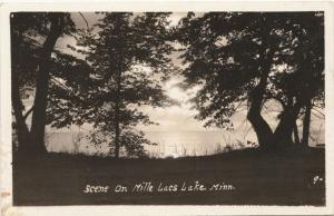 RPPC Scene on Mille Lacs Lake MN, Minnesota - pm 1940 at Onamia