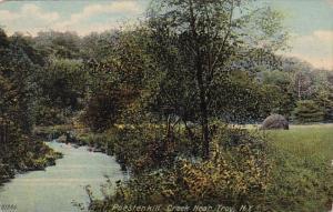 New York Troy Scene Along Poestenkill Creek 1910