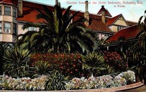 California Redondo Garden Scene At The Hotel Redondo 1910