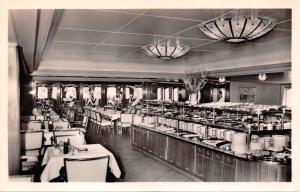 FAHRSCHIFF DEUTSCHLAND FERRY SHIP~KALTES BUFFET~PHOTO POSTCARD c1950s