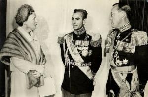 iran persia, Shah Mohammad Reza Pahlavi with Dutch Queen Juliana, Medals (1959)