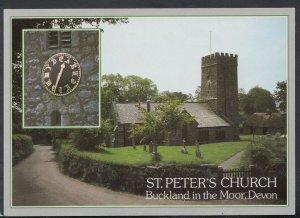 Devon Postcard - St Peter's Church, Buckland In The Moor   RR6238