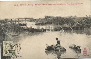 CPA Vietnam Indochine TONKIN Sontay - Barrage, près de Tong (61571)