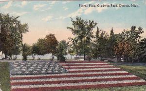 Michigan Detroit Floral Flag Gladwin Park 1913