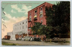 Topeka Kansas~Continental Creamery Co~All Staff in Front of Building~1908