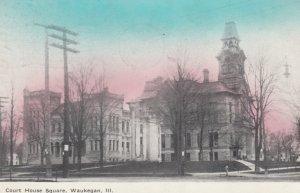 WAUKEGAN , Illinois , 1910 ; Court House Square