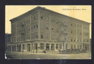 ROCHESTER MINNESOTA COOK HOTEL DOWNTOWN VINTAGE POSTCARD