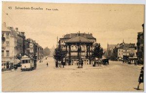 4 VINTAGE POSTCARDS OF BRUSSELS. NUMBEREDS. Printer: Schaerbeek. UNUSED!!!
