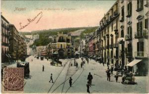 CPA Napoli Strada di Piedigrotta e Mergellina ITALY (801736)