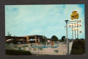 SC Traveleze Motel GREENVILLE SOUTH CAROLINA Postcard