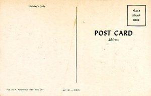 P1295 vintage unused art postcard russian holiday calls horse pulling sled