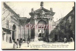 Old Postcard Villeneuve Avignon Entree Chartreuse du Val Benite