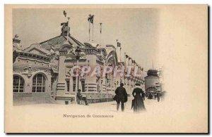 Old Postcard Paris 1900 Universal Exhibition Business Navigation
