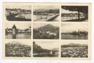 RP  LUZERN, Switzerland, PU-1927  9-views