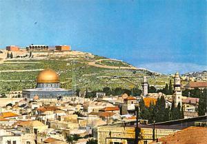 Jerusalem Israel Old City Mosque of Omar and Mt of Olives Jerusalem Old City ...