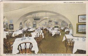 New York City Prince George Hotel New England Dining Room 1920