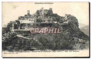 Old Postcard Village of & # 39Eze Corniche Road