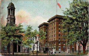 Virginia VA postcard Richmond Hotel old st. Vintage