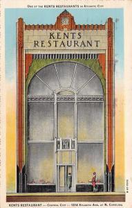 Atlantic City~STAND ALONE Art Deco Kent's Restaurant~Soldier's Mail 1929
