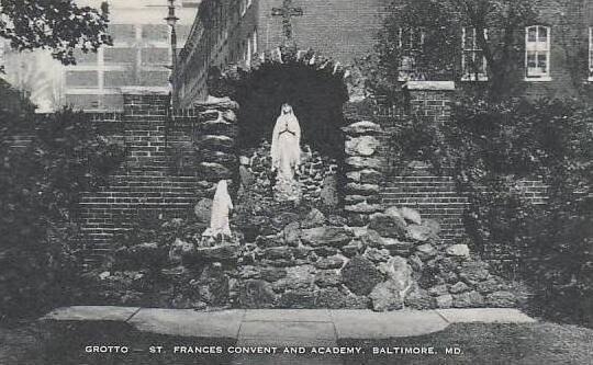 Maryland Baltimore Grotto St Frances Convent And Academy Artvue