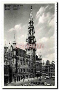 Postcard Modern Brussels Hotel De Ville