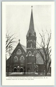 Manchester New Hampshire~First Congregational Church~Nelson's 5c Store Pub~c1905