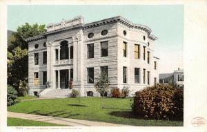 Montpelier Vermont~Kellogg Hubbard Library~Main Street~1904 Detroit Pub Co #7503