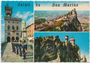 Saluti da San Marino, Palazzo del Governo, 1980 used Postcard