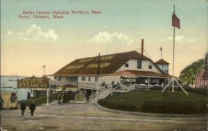 Bass Point Nahant MA Relay House & Steamer Sign c1910 Postcard