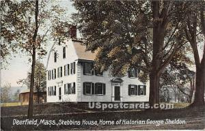 Stebbins House, Home of the Historian George Sheldon Deerfield MA Writing on ...