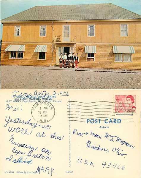 Gaelic Village Craft Centre, St. Ann's Cape Breton Nova Scotia Canada, 1968