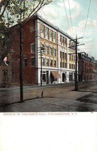 Poughkeepsie New York Knights Of Columbus Hall Antique Postcard K33105