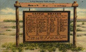 Montana Cattle Brands Misc MT 1947