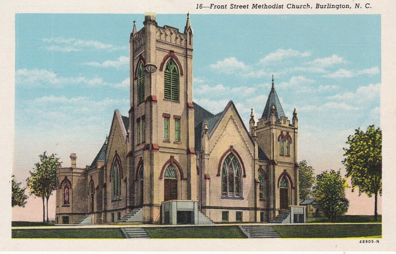 BURLINGTON, North Carolina, 30-40s; Front Street Methodist Church