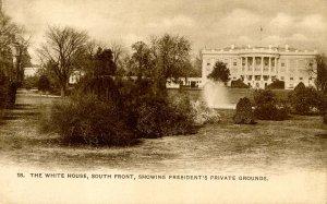 DC - Washington. The White House, President's Private Grounds circa 1900
