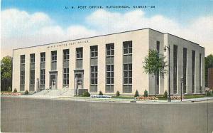 Post Office Hutchinson, Kansas KS Linen